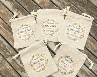 Let's go with custom cotton or cotton gifts for Wedding with first names, date of your choice! wedding gifts invited witness evening