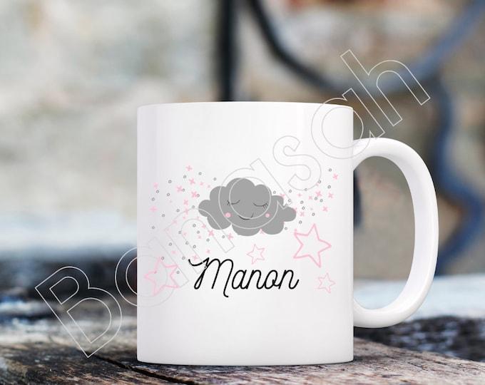 Custom white ceramic mug with first name