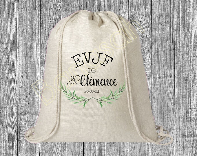 Backpack in custom EVJF , Bachelor of Life with sliding ties! Sending quick wedding witness bridle team