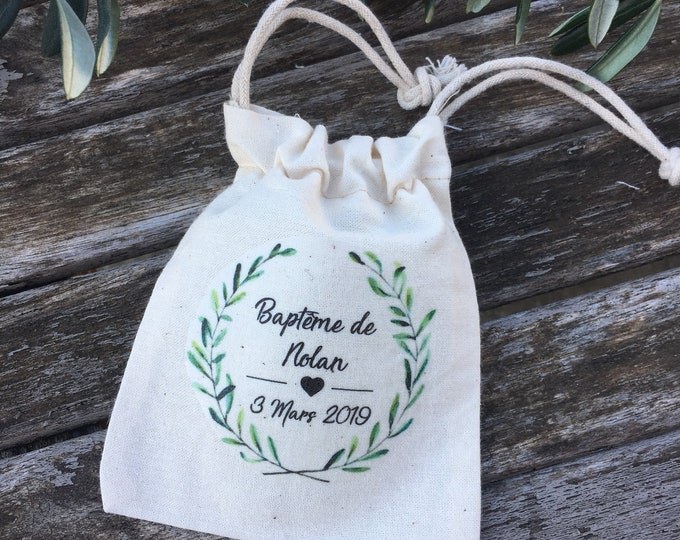 Personalised cotton pooches or cotton gifts for Wedding or Baptism! wedding gifts invites country dredged bundles