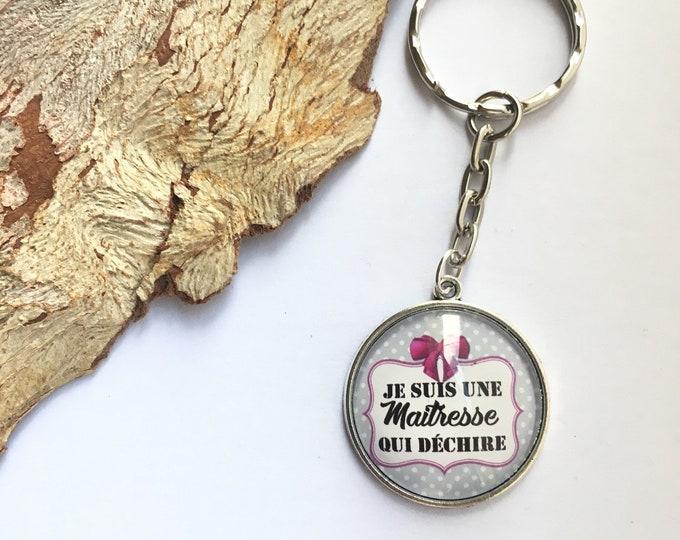 "Keychain ""I'm a teacher that rocks"" metal, perfect for gift! Gift nurse nurse nanny colleague Director"