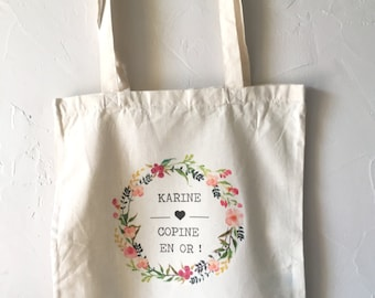 Personalised cotton tote Bag for a Golden Copy! Birthday Christmas gift party family sister girlfriend friend colleague
