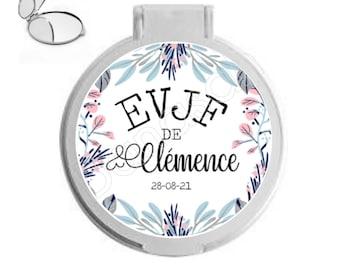 Custom pocket mirror for EVJF, bachelorette party, bridesmaid, witness ...