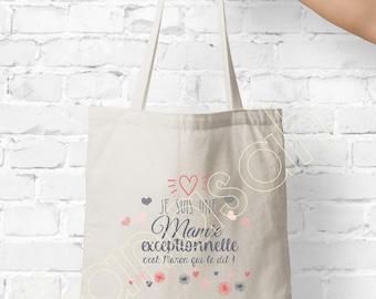 Tote custom bag, shopping bag, Available for Grandma, Mom, Godmother, Tata, Nanny, Mistress ...
