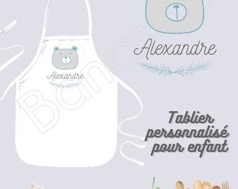 Customizable kitchen apron for children / Junior, Personalized birthday gift idea, original Christmas, apron for little chef