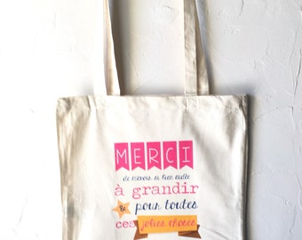 Personalized gift teacher, pre-school, AVS cotton Tote Bag! End of year gift