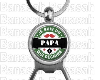 """Key Holder """"I'm a Tearing Dad"""" Ideal for making an ideal gift to make an original and practical gift"""