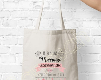 Personalised tote bag, shopping bag, Available for Grandma, Mom, Godmother, Tata, Nanny, Mistress! Personalised gift - useful