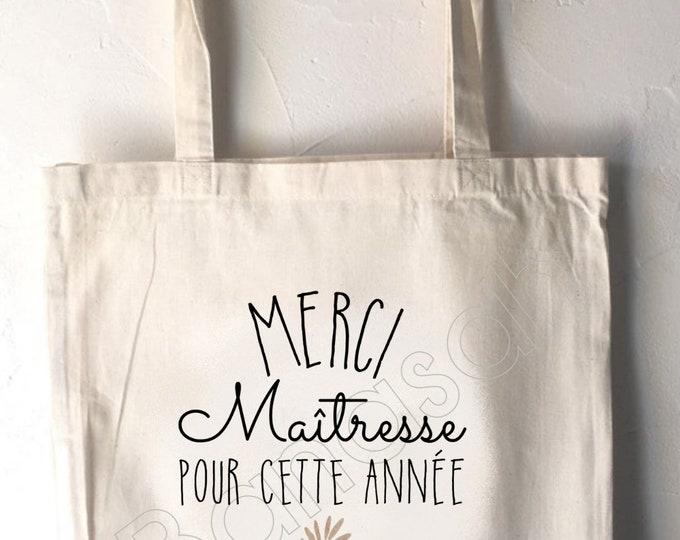 Tote bag custom, shopping bag, Available for Mistress, Atsem, Avs, Nanny, Mom, Godmother, ...! Personalised gift - useful