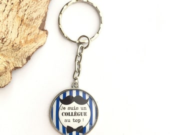 """Key Door """"I'm a Colleague at the top!"""" in metal, ideal for gift! gift nurse carer nanny colleague director"""