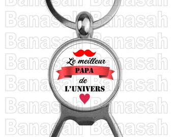 """Key Holder Decapitater """"The Best Dad in the Universe"""" Ideal for making an ideal gift to make an original and practical gift"""