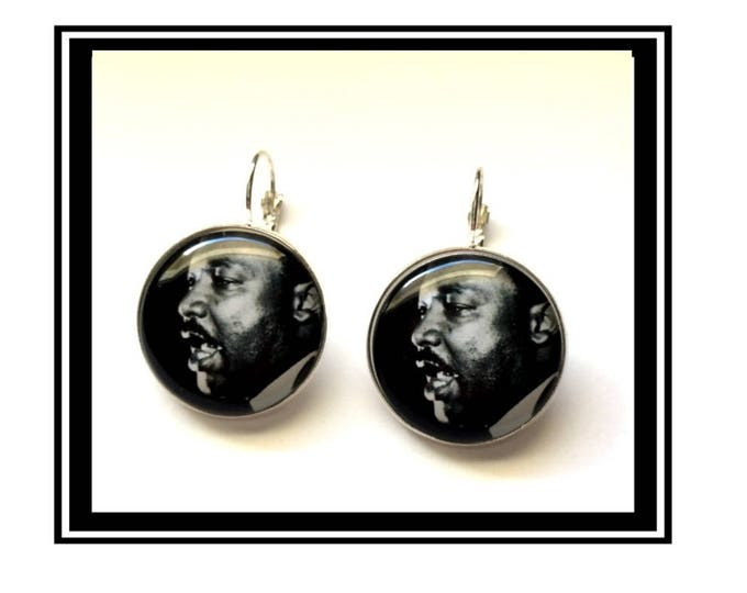 "Earrings original vintage, activist, hero, man ""Martin Luther King"""