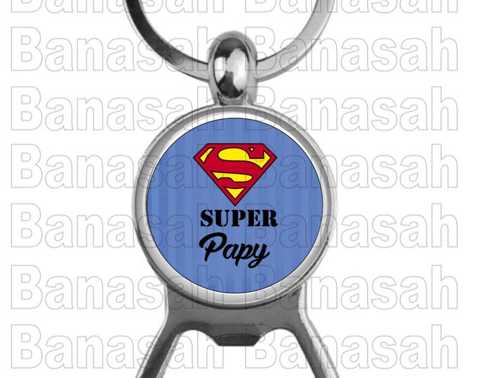 """""""Super Papy"""" Key Holder """" Ideal for making an ideal gift to make an original and practical gift"""