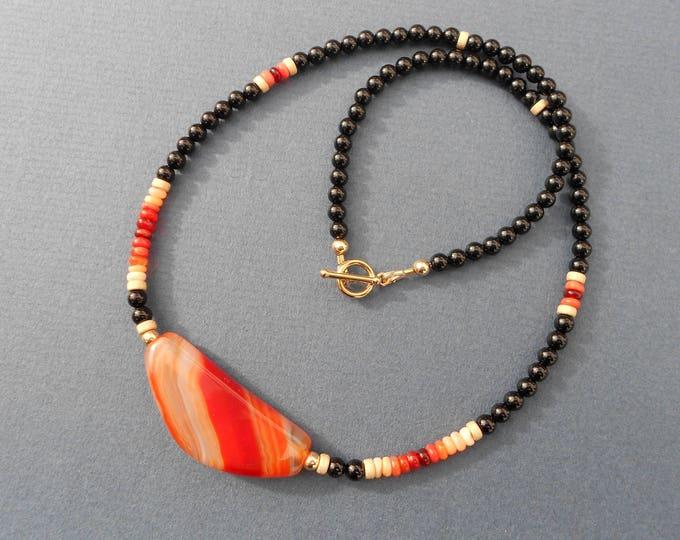 Boho necklace,Black necklace,Gold necklace,Red necklace,Opal necklace,Agate necklace,Beaded necklace,multicolour necklace,Ombre necklace