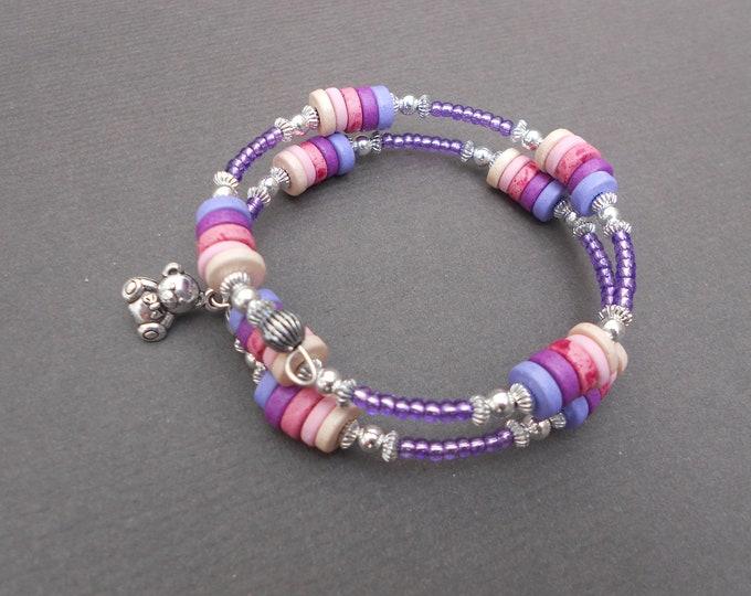 Boho bracelet,Ceramic bracelet,Wrap bracelet,Memory bracelet,Charm bracelet,Beaded bracelet,Teddy bracelet,Ombre bracelet