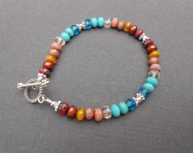 Children bracelet,Girls bracelet,Small size bracelet,Glass bracelet,Beaded bracelet,Summer bracelet,Tropical bracelet,Boho bracelet,Artisan