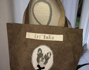 Bag velvet high quality dog's head decoration