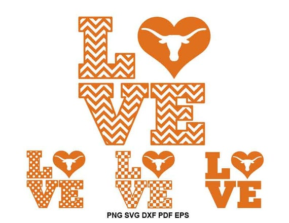 Texas Longhorns Svg University Of Texas Svg Hookem Etsy