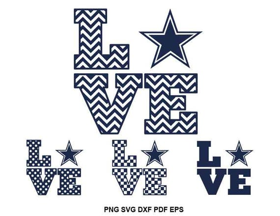 Dallas Cowboys Svg-Datei Texas Svg-Dateien Cowboys Herz Svg | Etsy