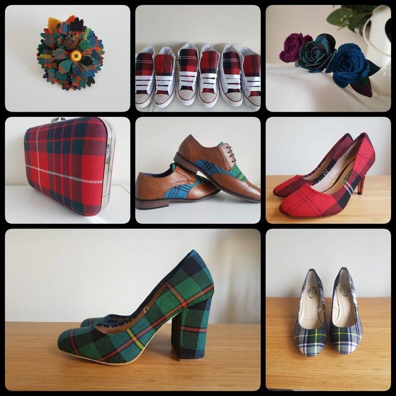 e222d3926f0e Custom Tartan Shoes Various Tartans Flats Heels Pumps.