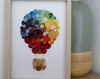 Hot air balloon - board in buttons