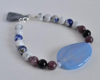 Worry Bracelet, Worry Stone, Worry Stone Bracelet, Anxiety Bracelet, Panic Attack Bracelet, Intention Bracelet, Gemstone Bracelet