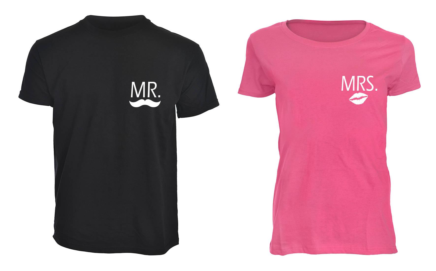 7564e4a5e0c66 Pink and Black Mr Moustache   Mrs Lips Hubby Wifey Wedding