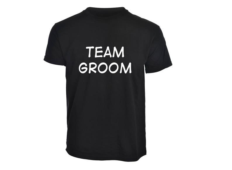 a7502b98 Mens Black Personalised Stag Do Team Groom T-Shirt Custom | Etsy