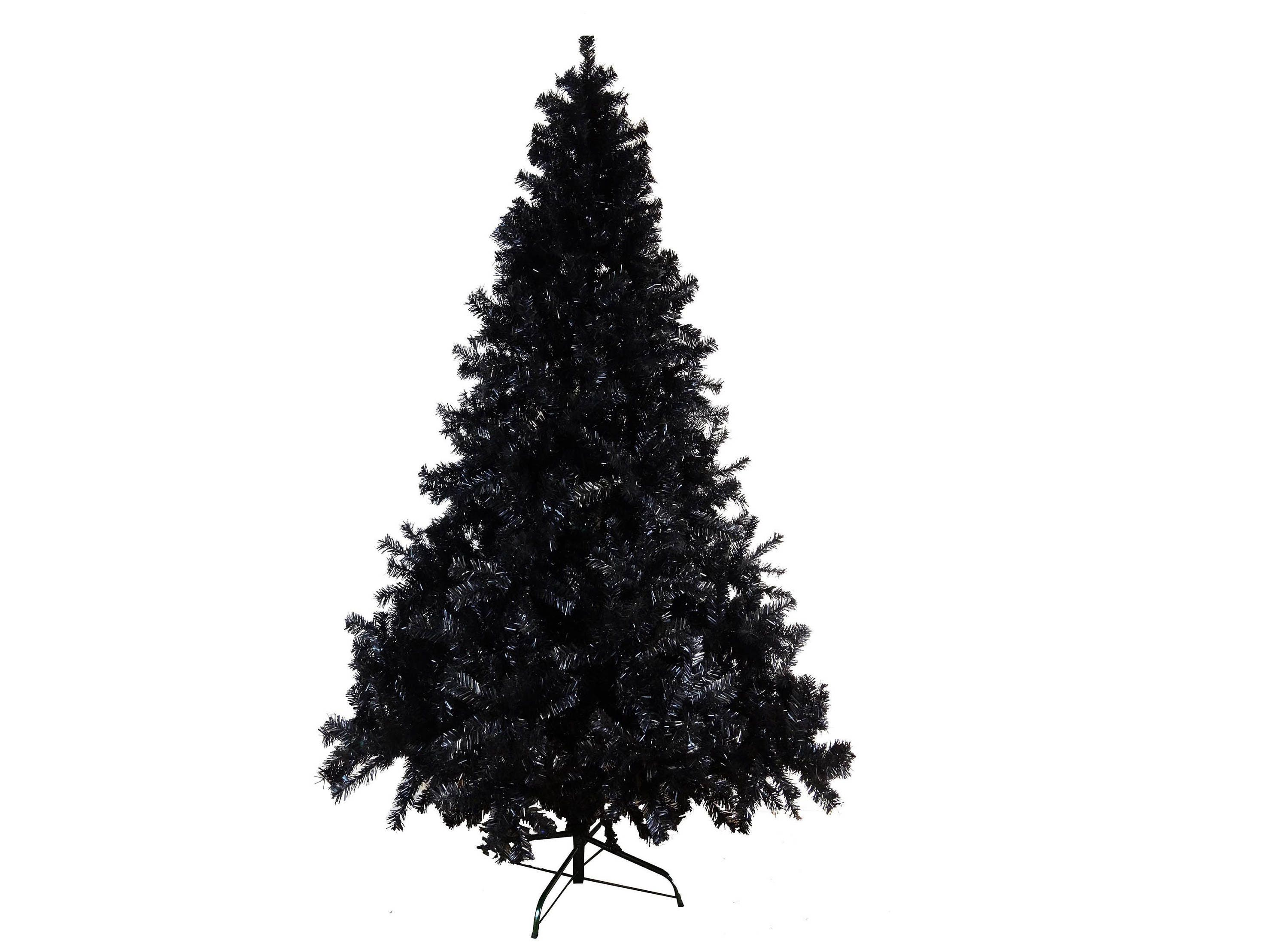 Sale 7ft 210cm Artificial Luxury Black Coloured Christmas Tree Fire Certified High Tip Count 1500 Tips Bushy High Density