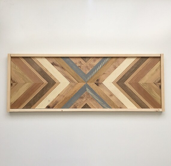 Geometric Reclaimed Wood Handmade Wooden Wall Art Boho