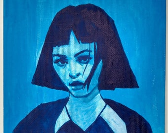 "Melancholy - Original Gouache Painting on 5x7"" (12.5x17.5cm) 100% Triple-primed Acid-Free Canvas board"