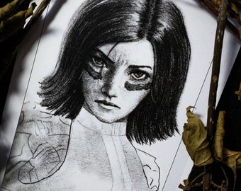 "Art Print 8x6""  (A5) - ""Alita: Battle Angel"" Portrait"