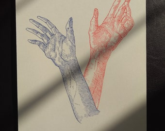 Original Ink portrait - 'Duality'