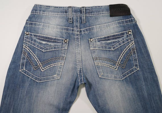 kinder Online kaufen Schlussverkauf RUSTY NEAL Mens Jeans W 32 L 34 Original High Quality Denim