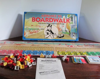 Vintage ADVANCE TO BOARDWALK Parker Brothers Board Game 1985