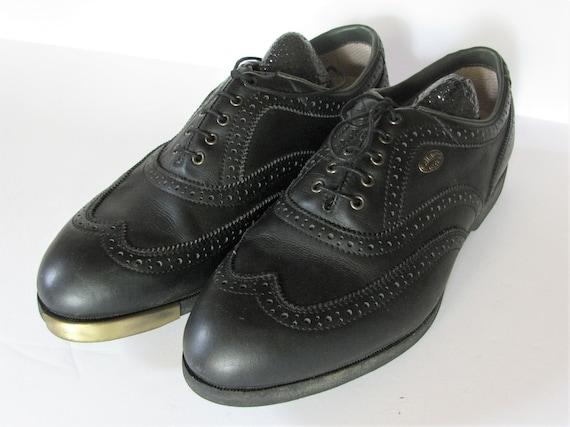 Vintage CALLAWAY Black Leather Wingtip Golf Shoes