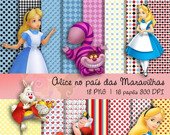 Digital Scrapbook Kit ALICE WONDERLAND-Kit 3