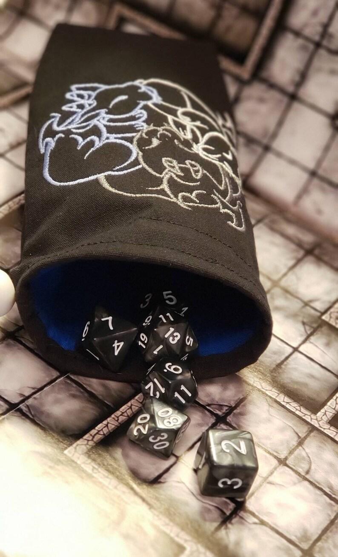 Baby Gargoyles dnd dice figure travel storage bag