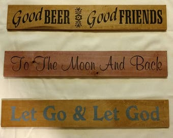"""Wooden Sign 24"""""""