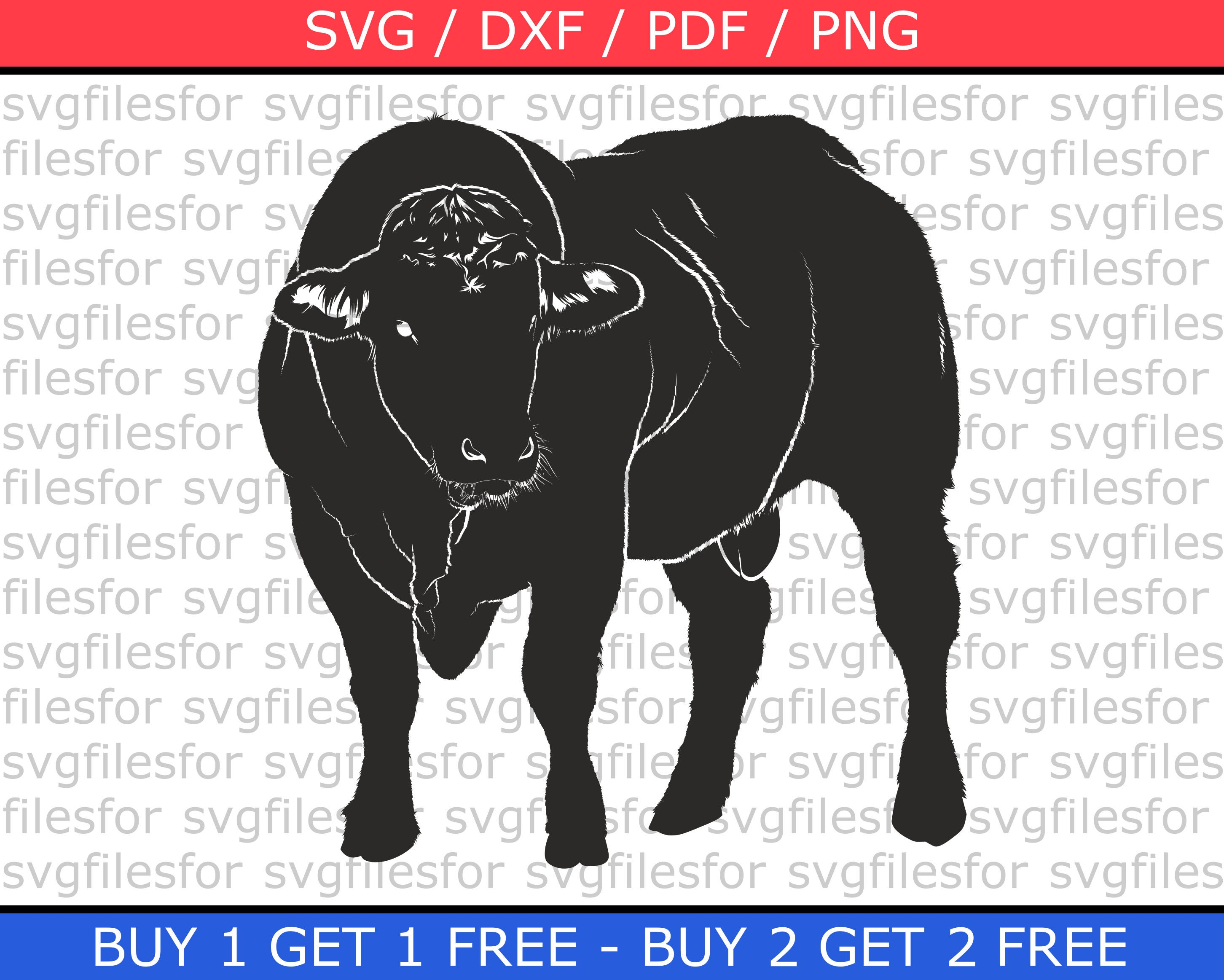 Cow Svg Art Print Bull Clipart Cut Files For Cricut Dxd Pdf Etsy