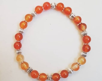 Orange carnelian bracelet
