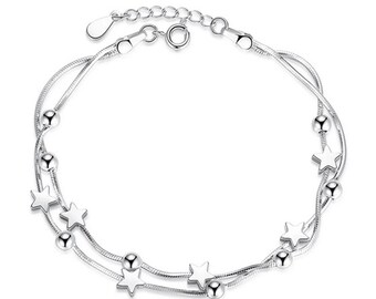 Star silver plated bracelet