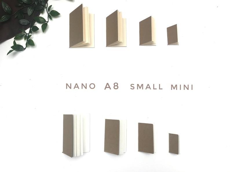 Mini/Small/A8 and Nano TN Inserts  Set of 4  Kraft Cover image 0