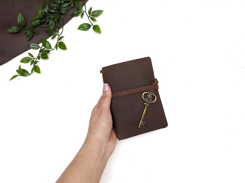 Pocket Leather Notebook Cover  Brown  A gorgeous cover for image 0