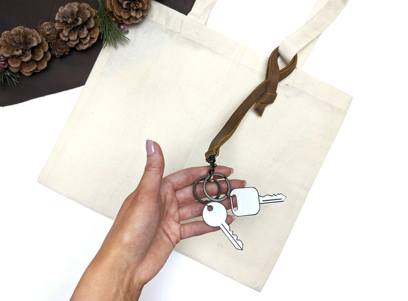 Leather Keychain  Key Loop  Can be personalised image 0