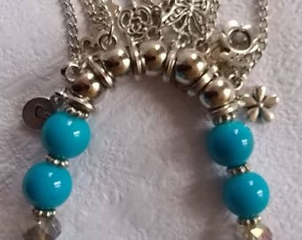 Fancy with Turquoise beads bracelet and Pendatifs
