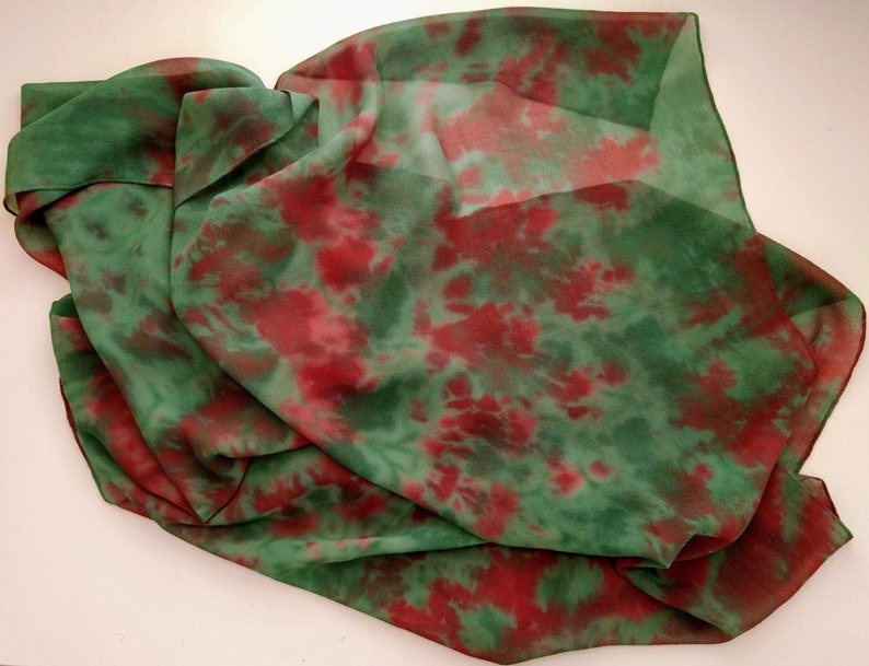 Hand-dyed Silk Scarf image 0