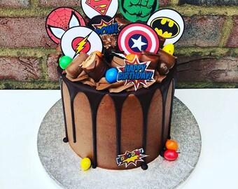 Excellent Marvel Cake Topper Etsy Funny Birthday Cards Online Elaedamsfinfo