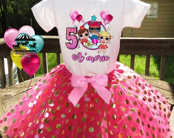240d441e3ba1 Lol Birthday Outfit, Birthday Girl Tutu Outfit, Personalized Birthday  Shirt, 3pc Outfit mc643