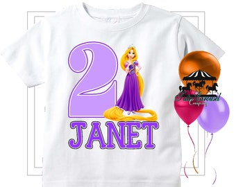 50 Off Rapunzel Birthday Shirt Personalized Mc175